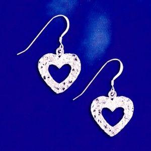 Sterling Silver earrings - #11072 Open Heart